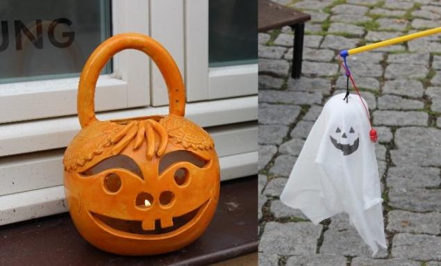 Halloween decorations, Travemünde, Germany
