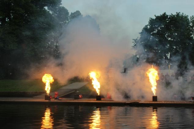 Firework, Hanseatic days 2014, lubeck, Germany