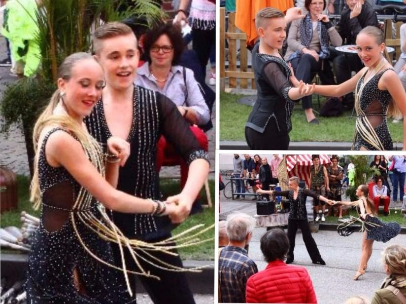 Street dancing in Lübeck, Schleswig-Holstein/Germany