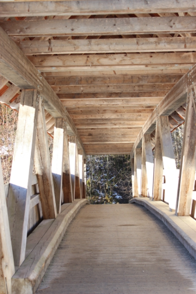 Wooden bridge in the Allgäu, Bavaria, Germany