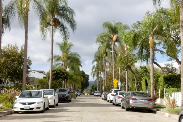 Street view in Hollywood, Los Angeles, California/USA