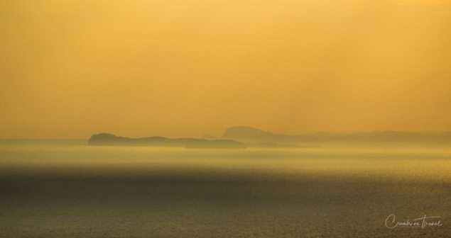 Pontine islands in the sunset