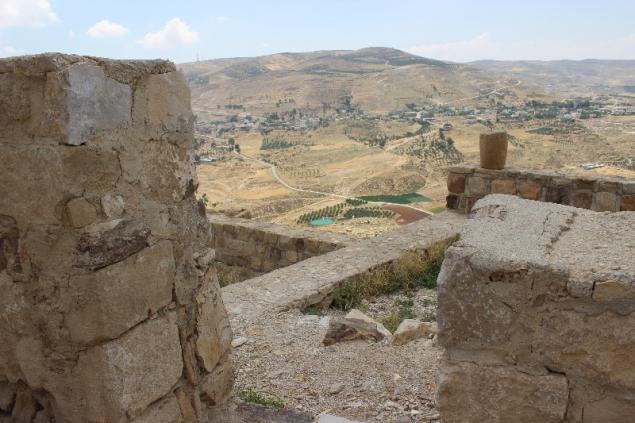 View from Karak castle, Jordan