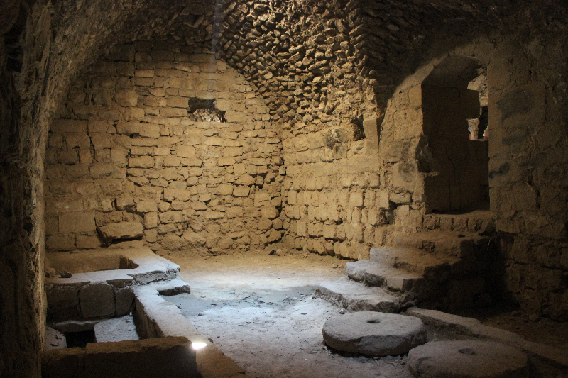 Chamber at Karak castle, Jordan