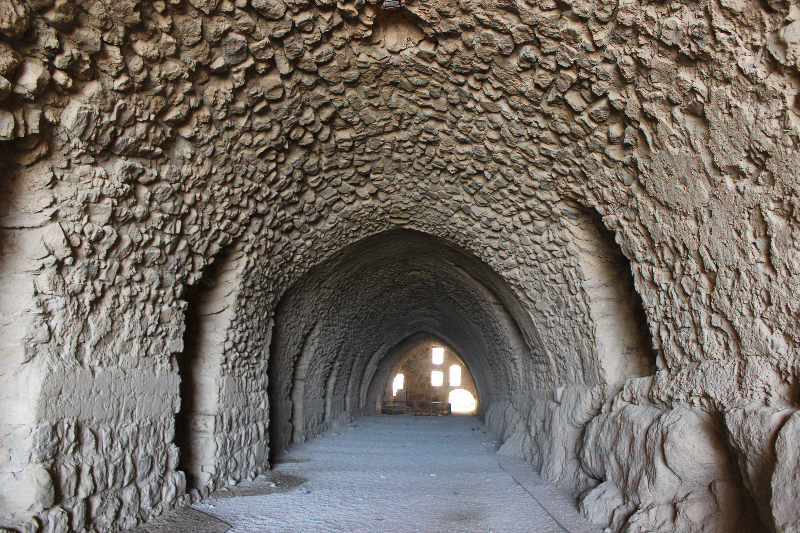 Chamber of the knights at Karak castle, Jordan