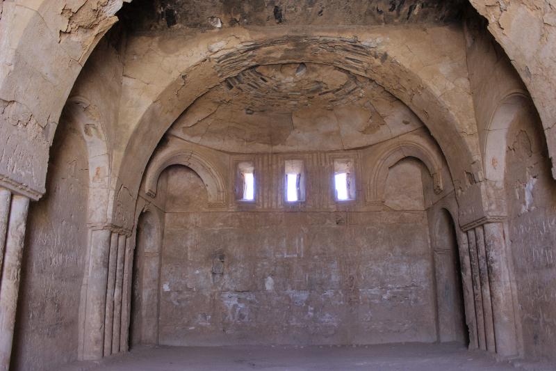 Inside Qasr Khanara, Jordan