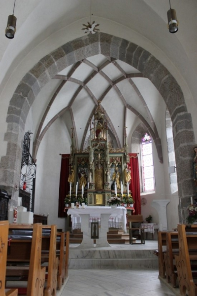 Inside the parish church of Kuens, South-Tyrol/Italy