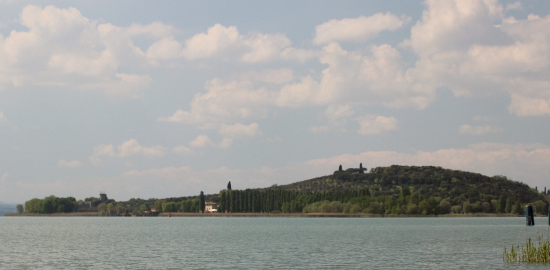 View of Lake Trasimeno, Umbria, Italy