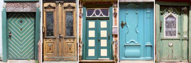 Doors in Lauenburg