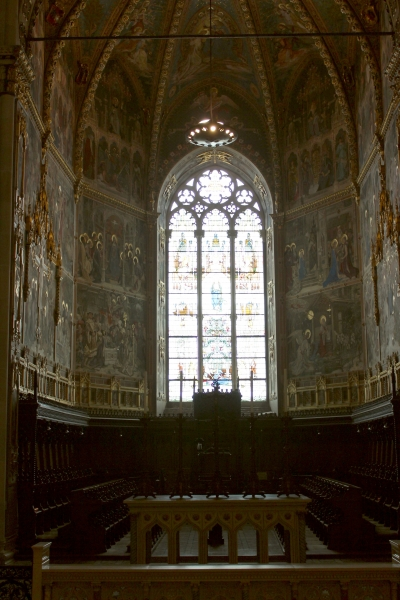 Window at the choir of the Sanctuary of Loreto, Le Marche/Italy