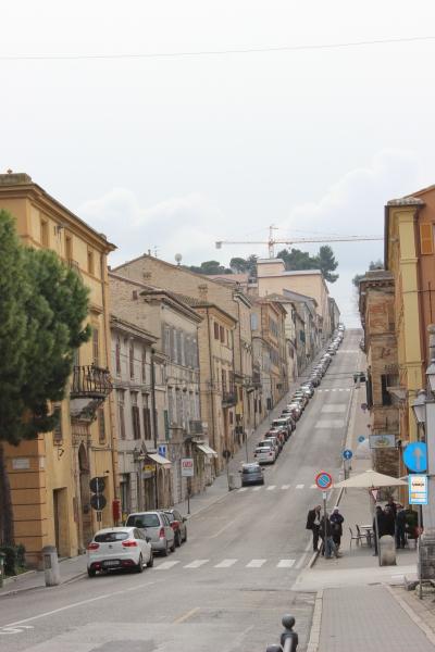 Street view of Loreto, Le Marche/Italy
