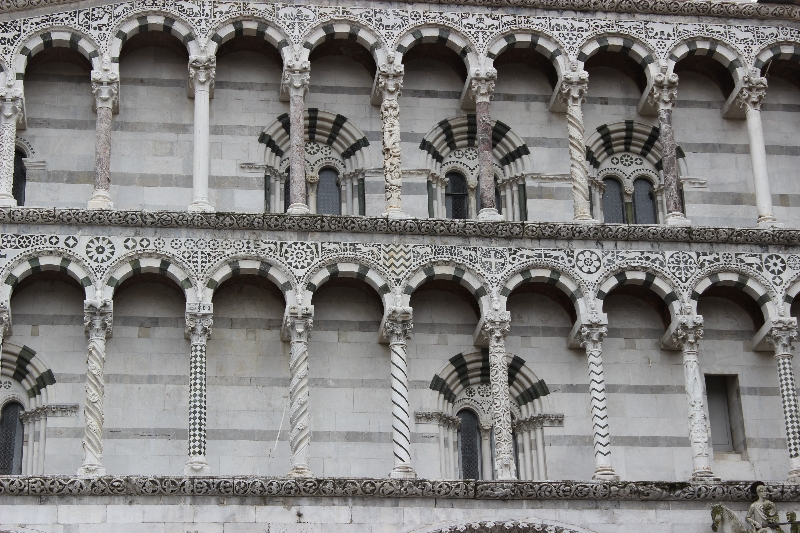 Detail of the cathedral of Lucca, Tuscany