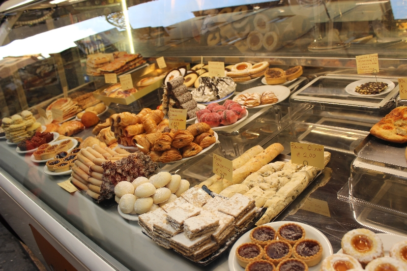 Sweet treats seen in Lucca, Tuscany
