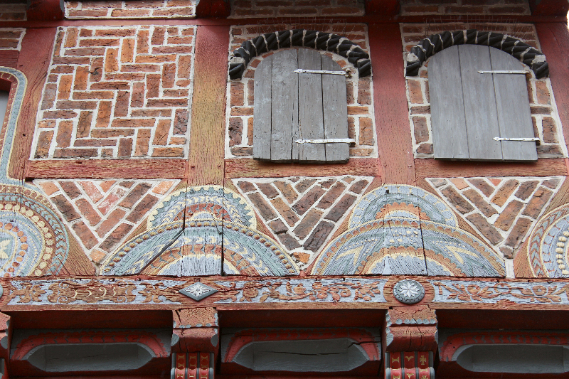 House details in Lüneburg, Lower Saxony, Germany