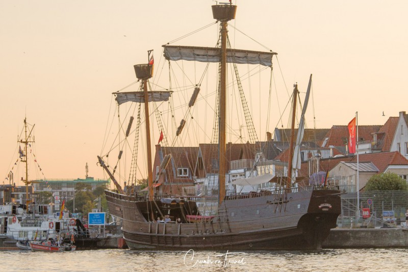 Hanseatic cog Lisa seen from the Mare Frisium