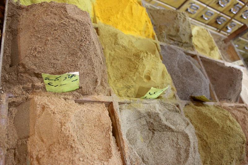 Spices at a souq in Amman, Jordan