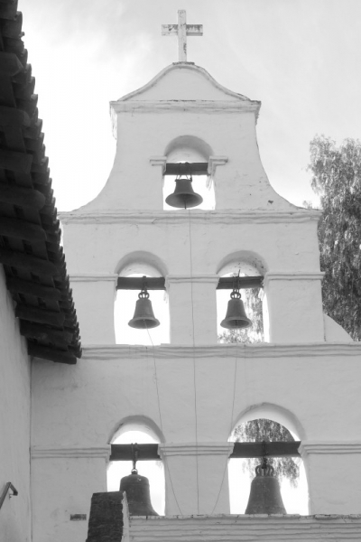 Bell tower of the mission in San Diego, California/USA