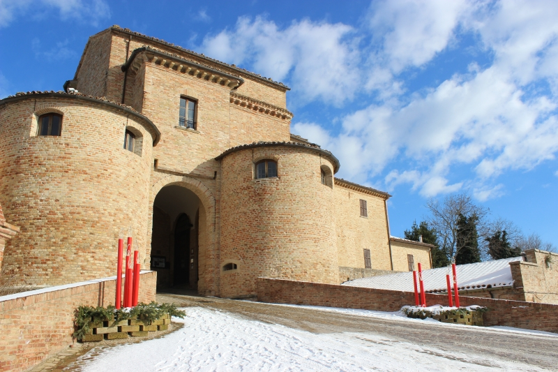 Entrance of Mombaroccio, Le Marche, Italy
