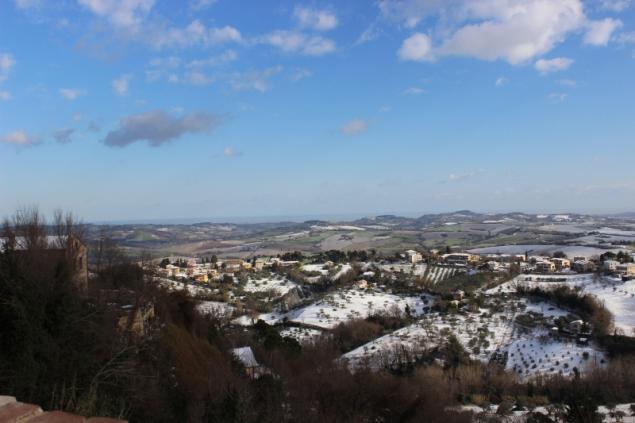 View from Mombaroccio, Le Marche, Italy