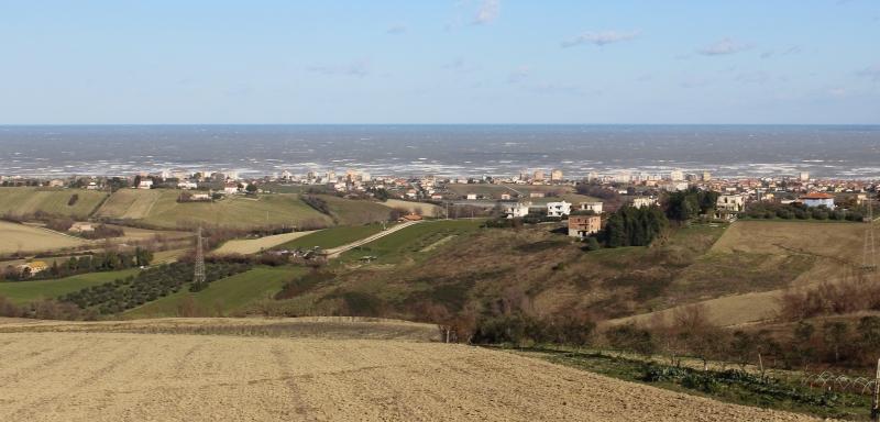 View from Mondolfo, Le Marche, Italy