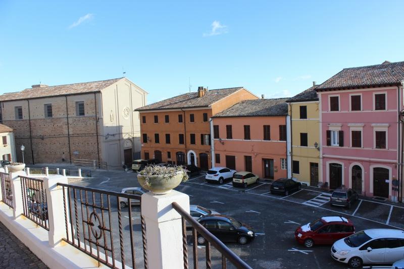 Piazza in Mondolfo, Le Marche, Italy