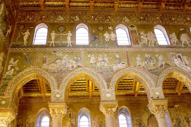 Inside the cathedral of Monreale, Sicily/Italy