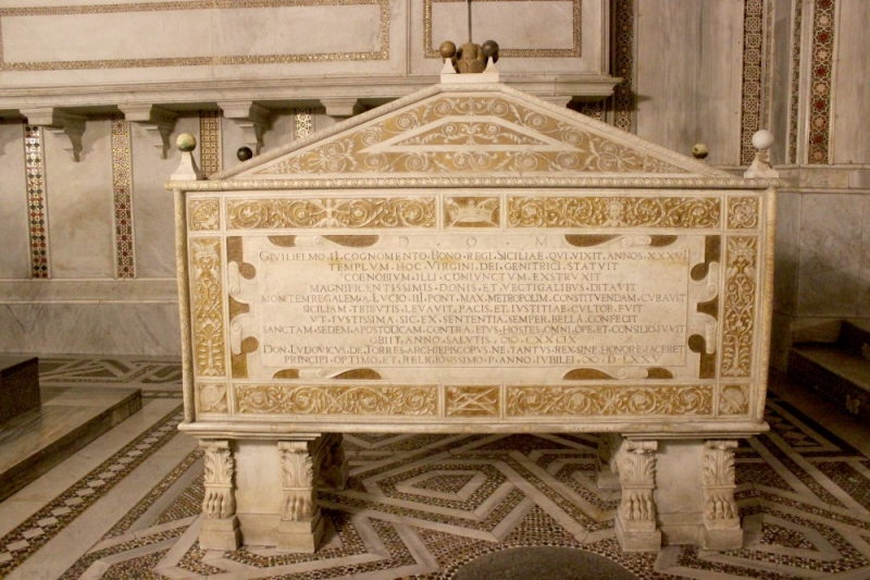 Tomb of Roger II The Good at the cathedral of Monreale, Sicily/Italy