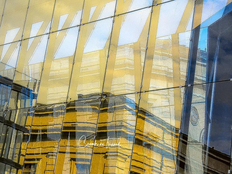 Glass, Munich in Bavaria in Germany