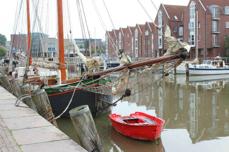 Husum harbor, North Sea