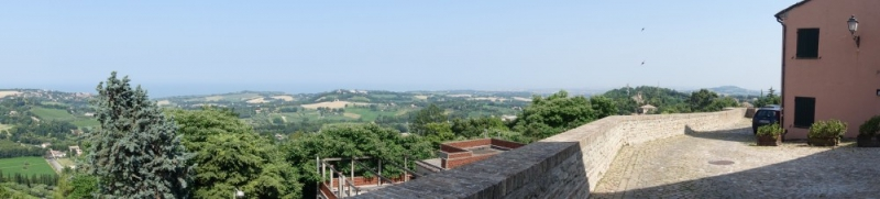 View from Novilara to Fano and sea, Le Marche/Italy