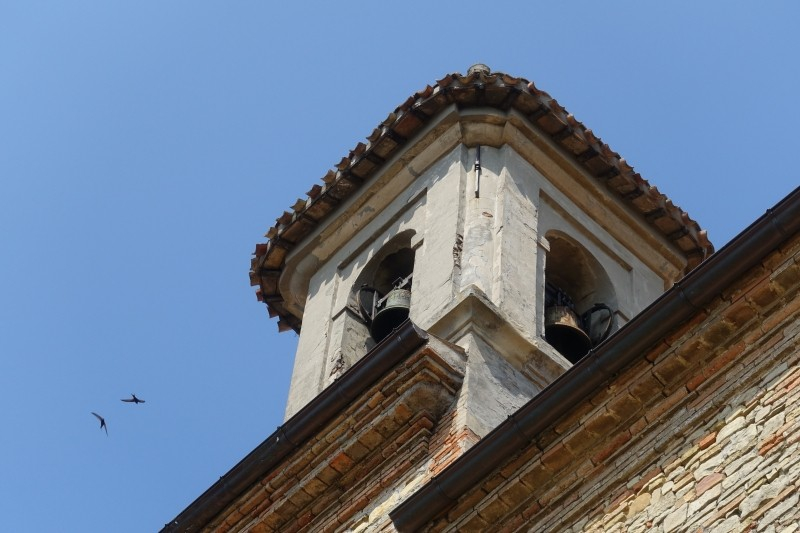 Bell tower in Novilara, Le Marche/Italy