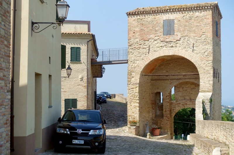 Entrance gate in Novilara, Le Marche/Italy