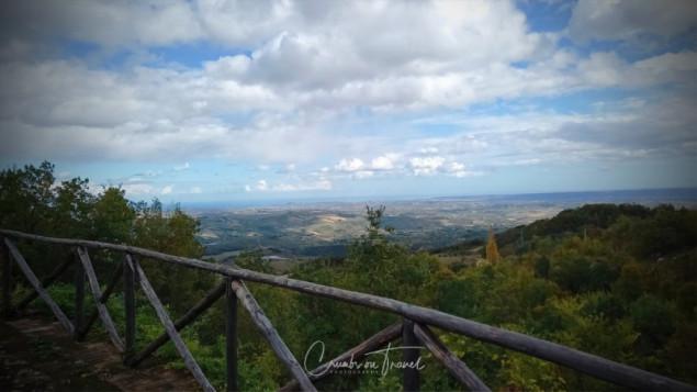 View from the mountains in Montebello di Bertona, Abruzzo region/Italy