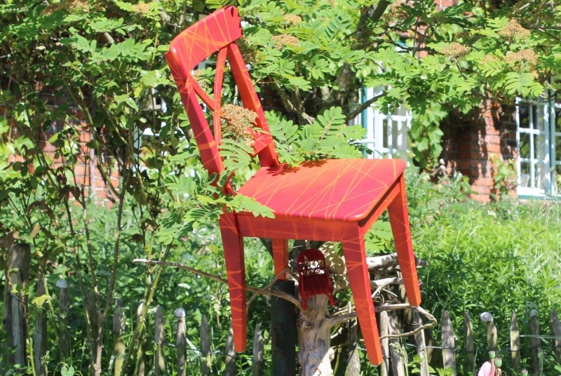The Red Stool, Days of the Open Ateliers, Ostholstein/Germany