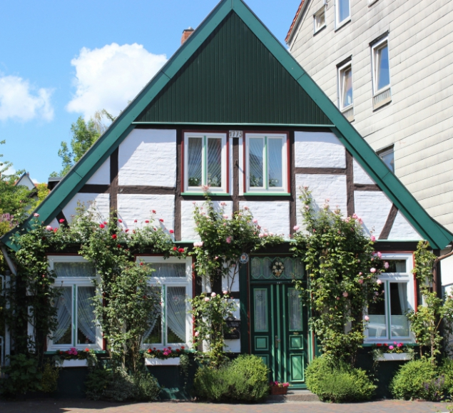Typical house in Schleswig-Holstein/Germany