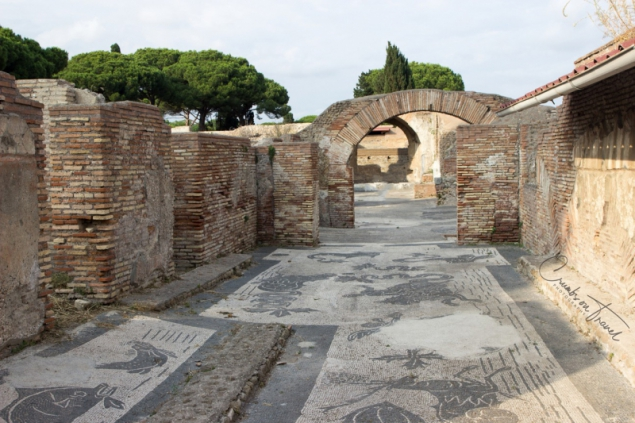 The mosaics of Ostia Antica, Lazio/Italy