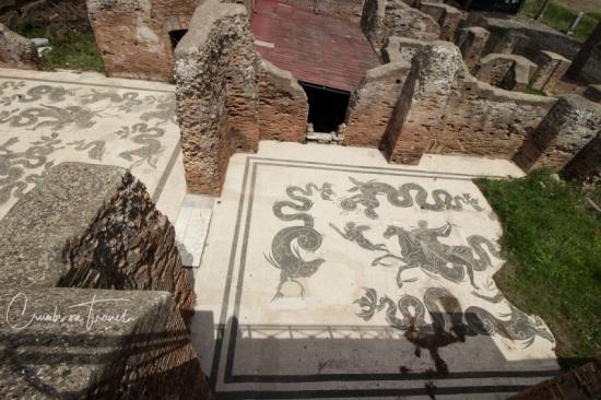 The mosaics of Ostia Antica, Lazio/Italy