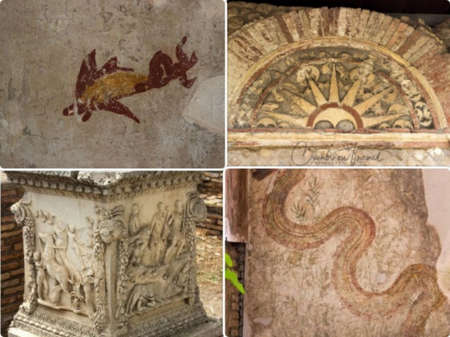 Decorations in houses, Ostia Antica, Lazio/Italy