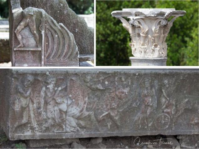 Decorations in the necropolis, Ostia Antica, Lazio/Italy