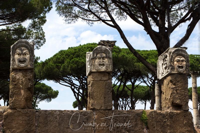 Masks, Ostia Antica, Lazio/Italy