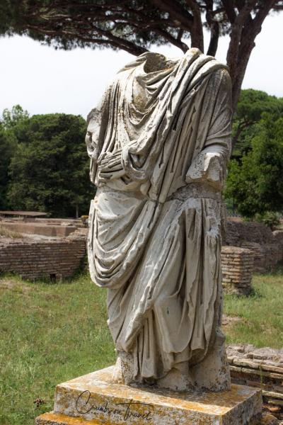 Sculpture, Ostia Antica, Lazio/Italy