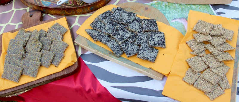 Paleo seeds crackers