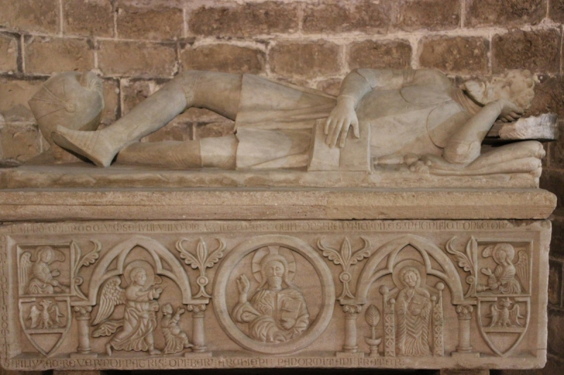 Detail of a tomb in the crypt of the cathedral of Palermo, Sicily/Italy