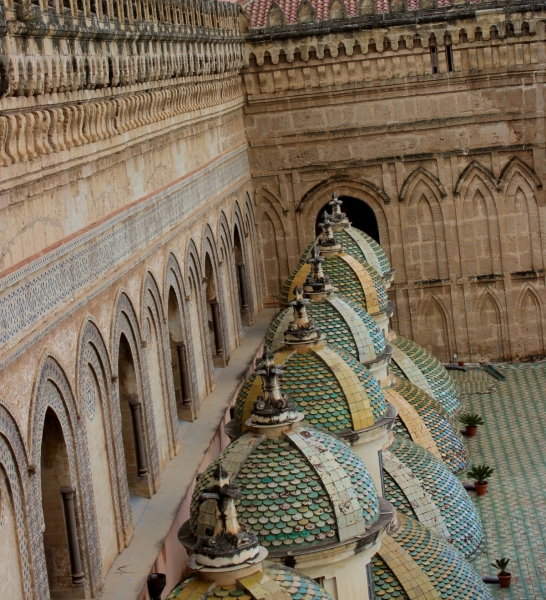 On the roof of the cathedral of Palermo, Sicily/Italy