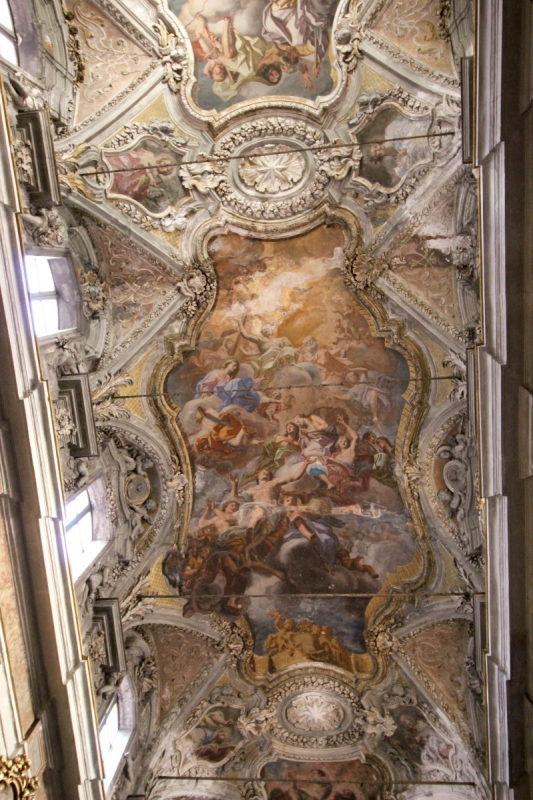 Inside the Church of Saint Matthew of Cassaro, Palermo, Sicily/Italy