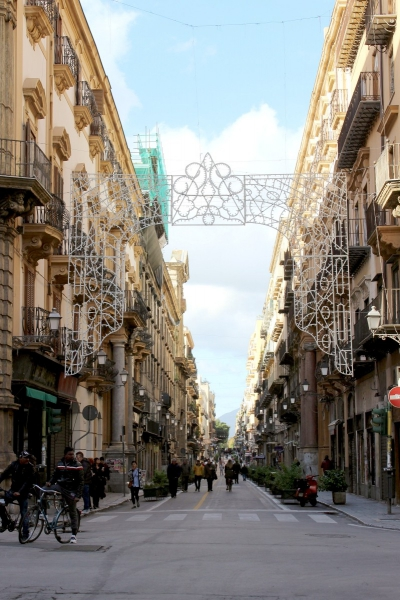 Street view of Palermo, Sicily/Italy