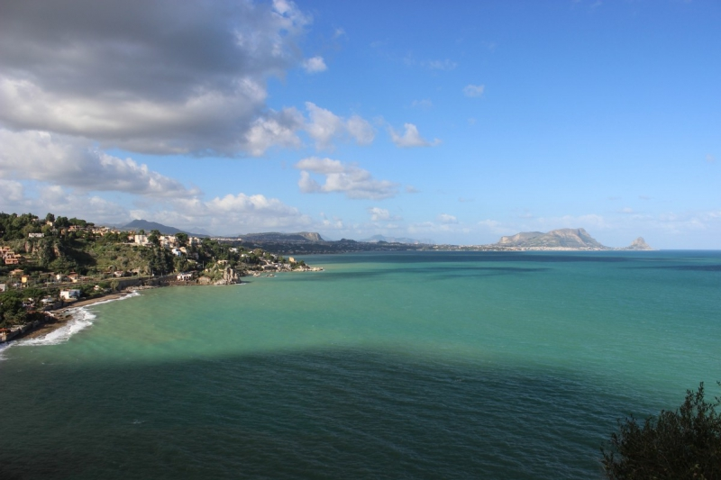 View from east to Palermo, Sicily/Italy