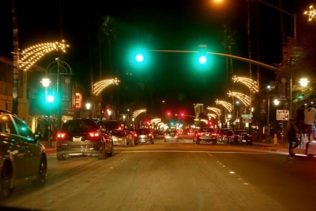 Palm Springs by night, California/USA