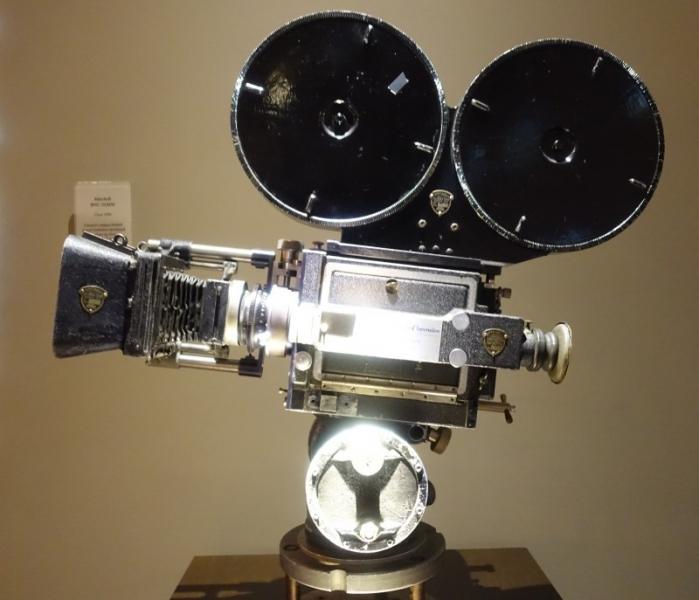 Antique camera, Paramount Picture Studios, Los Angeles, California/USA