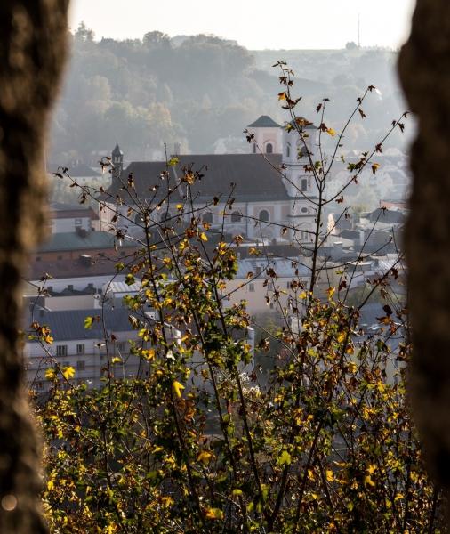 View on Passau from Veste Oberhaus, Passau, Lower Bavaria/Germany